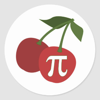 Cherry Pi Day Classic Round Sticker