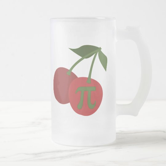 Cherry Pi Frosted Glass Beer Mug