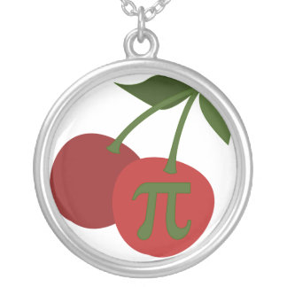 Cherry Pi Round Pendant Necklace