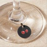 Cherry Pi Wine Glass Charm