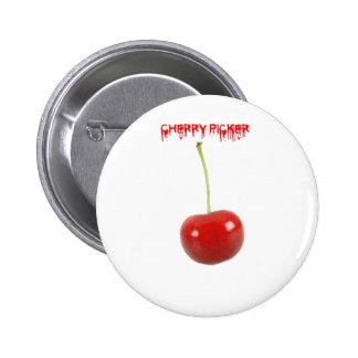 Cherry Picker Pinback Button