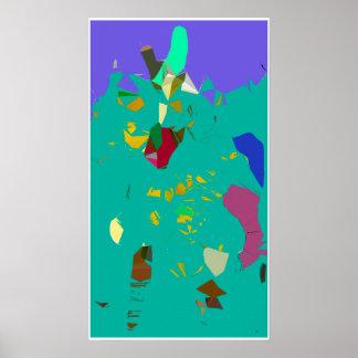 Cherry Picnic Delight Surreal Poster Art