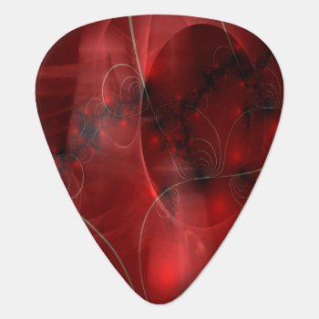 Cherry Pie Abstract Guitar Pick by BohemianBoundProduct at Zazzle