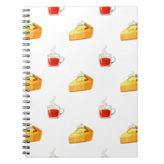 Cherry Pie and Hot Drink Pattern Notebook