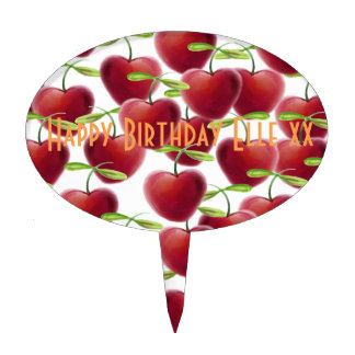 Cherry Pie Cake Topper