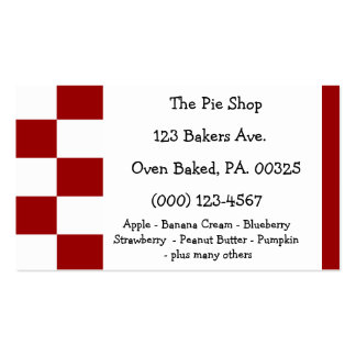 Cherry Pie Colors Double-Sided Standard Business Cards (Pack Of 100)
