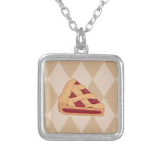 Cherry Pie Day - Appreciation Day Silver Plated Necklace