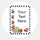 Cherry Pie Day February 20 Round Stickers