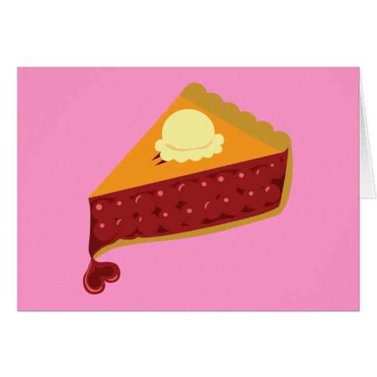 Cherry Pie Heart Card