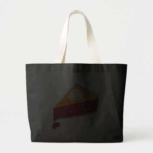 Cherry Pie Heart Large Tote Bag
