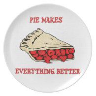 Cherry Pie Melamine Plate