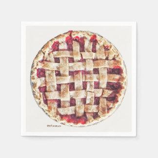 Cherry Pie napkins. Delicious. Paper Napkin
