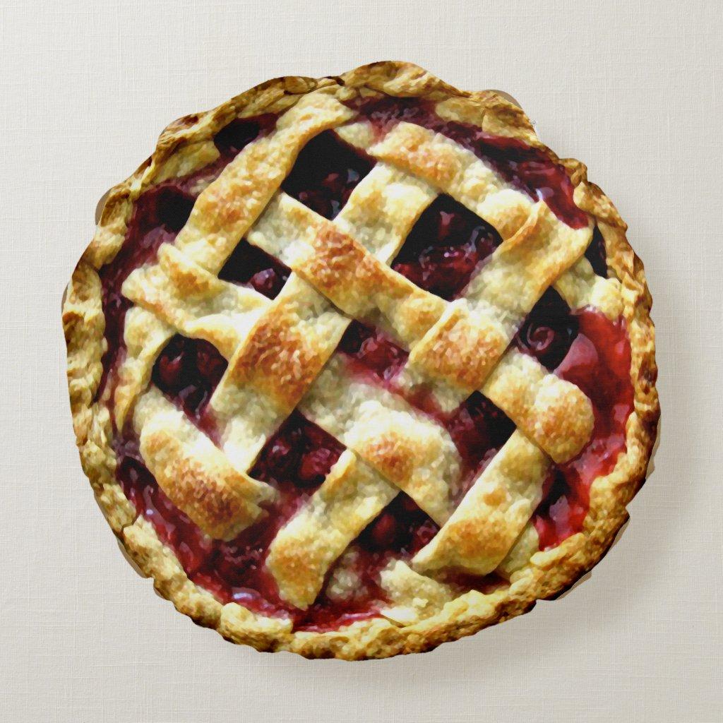Cherry Pie Round Pillow