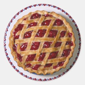 Cherry Pie Classic Round Sticker