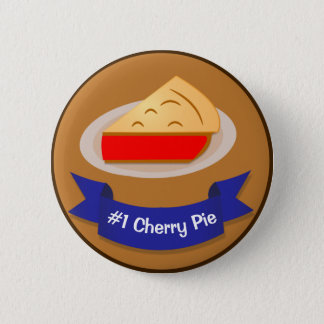 Cherry Pie Winner With Ribbon Pinback Button