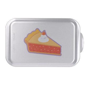 Cherry pie with whipped cream cake pan