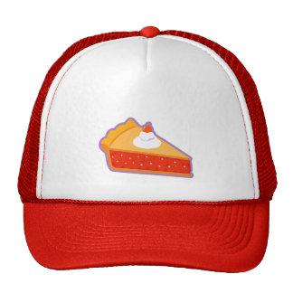 Cherry pie with whipped cream mesh hat