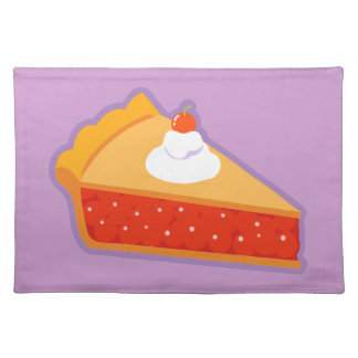 Cherry pie with whipped cream placemat