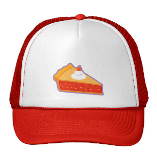 Cherry pie with whipped cream trucker hat
