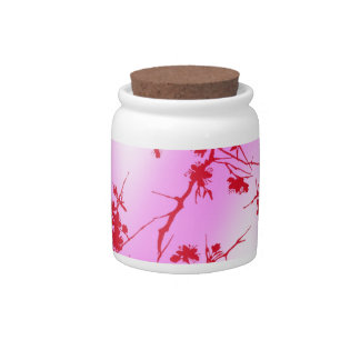 Cherry Pink Blossoms Candy Jar