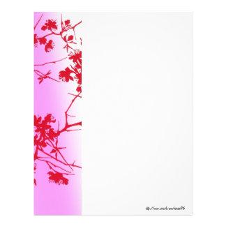 Cherry Pink Blossoms Letterhead
