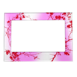 Cherry Pink Blossoms Magnetic Picture Frame