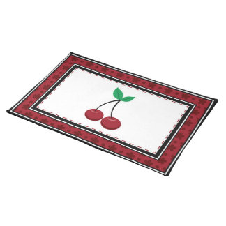 Cherry placemat cloth placemat