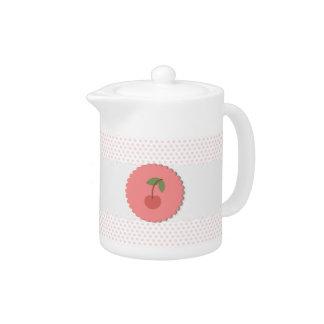 Cherry Polka Dot Teapot