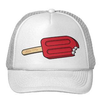 Cherry Popsicle Bite Me Hat (White