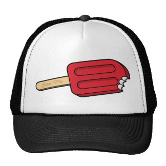 Cherry Popsicle Bite Me Hat (White/Black)
