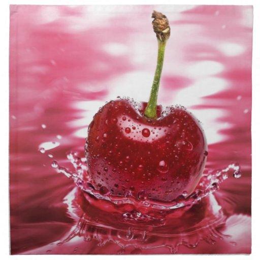 cherry printed napkin