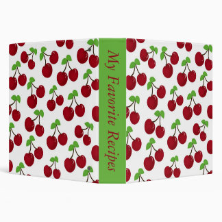 Cherry Recipe Album Binder