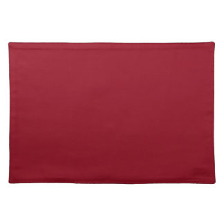 CHERRY RED (a solid fruity color) ~~ Cloth Placemat
