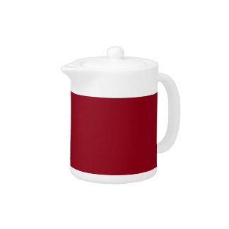 CHERRY RED (a solid fruity color) ~~ Teapot