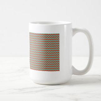 Cherry Red and Mint Green Zigzag Chevron Coffee Mug
