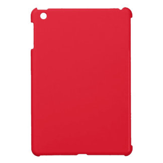 Cherry Red Background Chic Fashion Color Trend iPad Mini Cover