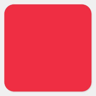 Cherry Red Bright Fashion Color Trend 2014 Custom Square Sticker