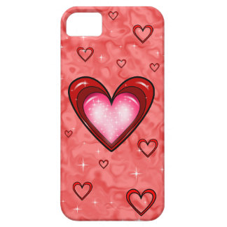 Cherry Red Candy Heart iPhone 5 5S case