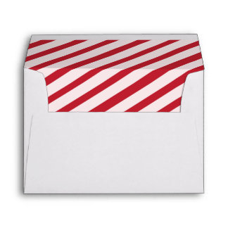 Cherry Red Carnival Stripes Lined Envelopes