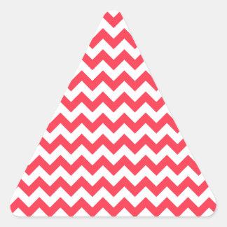 Cherry Red Chevron Zigzag Triangle Sticker