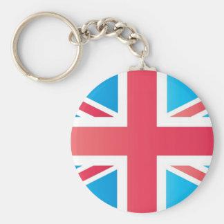 Cherry Red Classic Union Jack British(UK) Flag Keychain