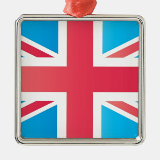 Cherry Red Classic Union Jack British(UK) Flag Metal Ornament