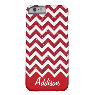 Cherry Red Glitter Chevron Name BLING Case iPhone 6 Case