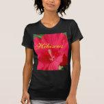 Cherry Red Hibiscus Fashion Shirts