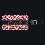 "Cherry Red Monogrammed Elements Print Bag Tag<br><div class=""desc"">Cherry Red Monogrammed Elements Print</div>"