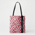 Cherry Red Monogrammed Elements Print Tote Bag at Zazzle