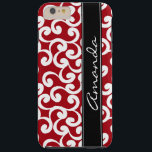 "Cherry Red Monogrammed Elements Print Tough iPhone 6 Plus Case<br><div class=""desc"">Cherry Red Monogrammed Elements Print</div>"