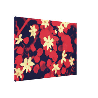 Cherry Red n Flowers Canvas Gallery Wrapped Canvas