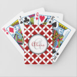 "Cherry Red Nico Print Bicycle Playing Cards<br><div class=""desc"">Cherry Red Nico Print</div>"