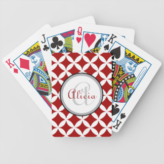 Cherry Red Nico Print Bicycle Playing Cards
